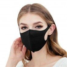 Masca de protectie sintetica neagra reutilizabila