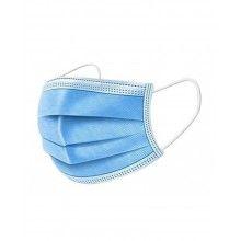 Masti de protectie de unica folosinta, cu 3 straturi, 50 bucati, albastru