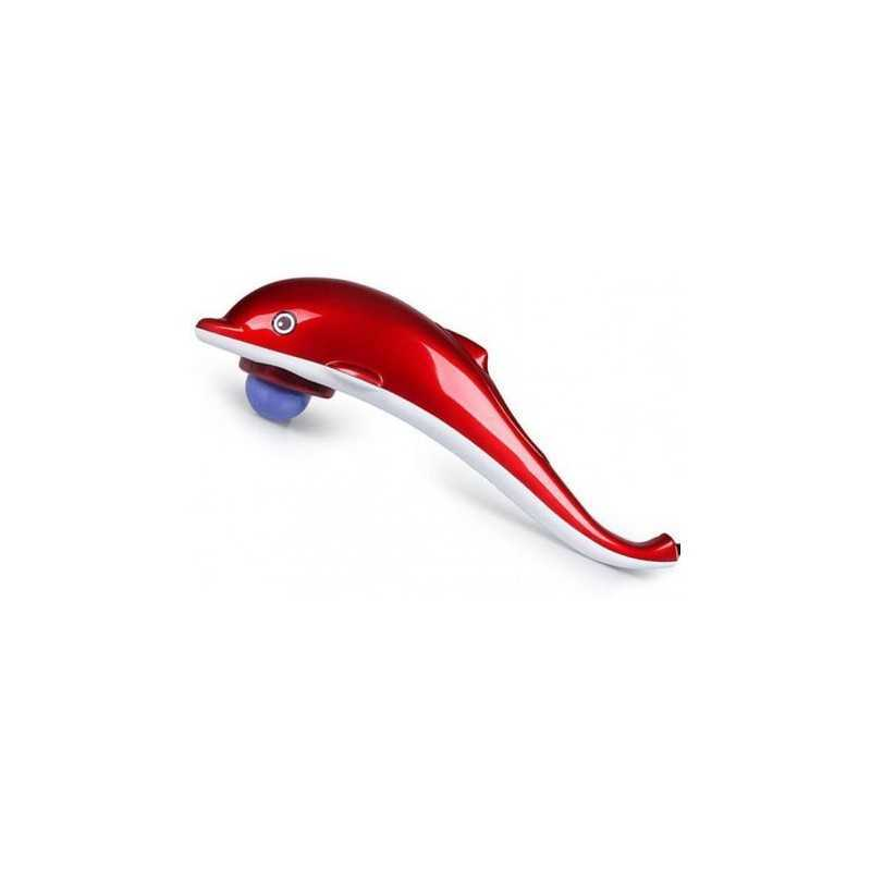 Aparat pentru masaj SIKS® in forma de delfin, 3 accesorii, vibromasaj, impotriva durerilor musculare si a celulitei