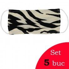 Set 5 masti textile model Negru cu Bej