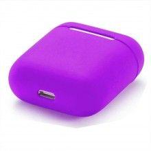 Husa de protectie din silicon pentru AirPods Violet