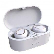 Casti Wireless SIKS® Bluetooth V5.0, sunet de inalta calitate, microfon incorporat, reduce zgomotul, CA207, culoare alb