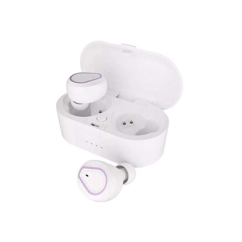 Casti Wireless Bluetooth 5.0 cu super bass si reducerea zgomotului model 208 Alb