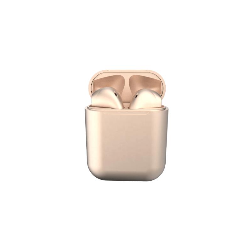 Casti Wireless New Airpods i12 Rezistente la apa Gold