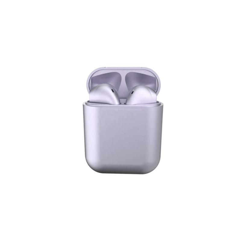 Casti Wireless New Airpods i12 Rezistente la apa Purple