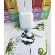 Casti Wireless New Airpods i12 Rezistente la apa White