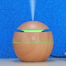 DIfuzor aromaterapie EDAR® ultrasonic, iluminare in 7 culori diferite, LED, cablu USB, culoare bej natur