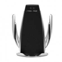 Incarcator wireless si suport telefon auto s5 Silver