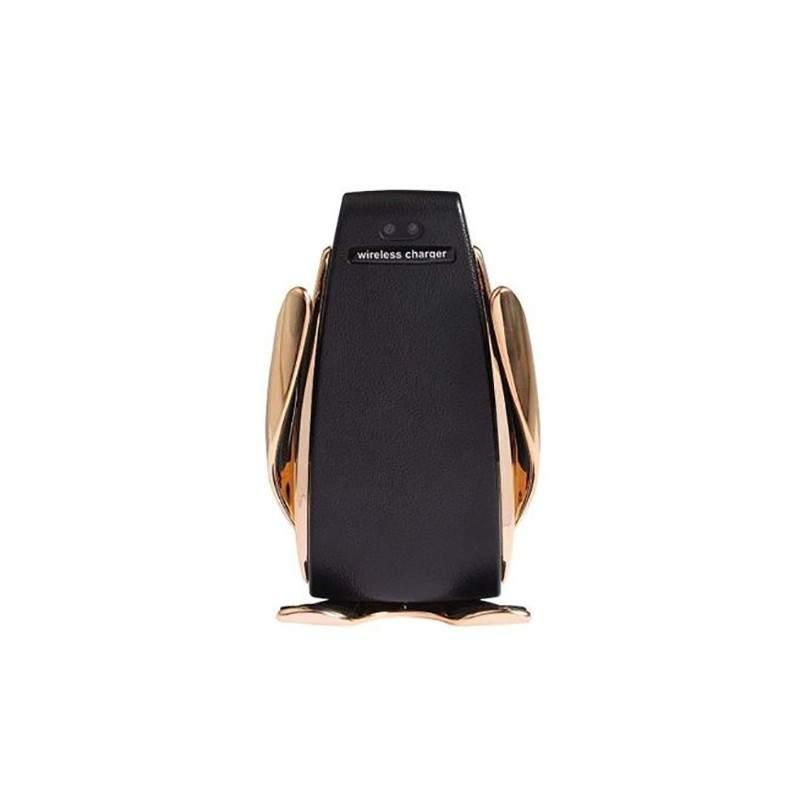 Incarcator wireless si suport telefon auto s5 Gold