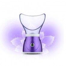 Sauna SIKS® faciala/nazala, tratament facial, inhalator, operare usoara, mov/transparent