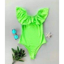 Body dama verde neon