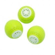Set 3 bile odorizante pentru frigider SIKS®, pentru improspatarea aerului si,verde