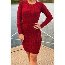 Rochie scurta dama tricotata, culoare rosu
