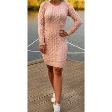 Rochie scurta dama tricotata, culoare roz