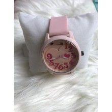 Ceas dama din silicon, culoare roz