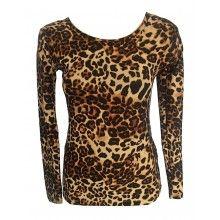 Bluza dama cu maneca lunga, imprimeu animal print, leopard