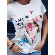 "Tricou dama ""Super Mom"""