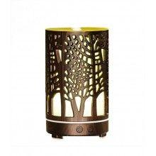 Umidificator aromaterapie EDAR® ultrasunet, model copaci cu rezervor 200 ml, culoare lemn inchis