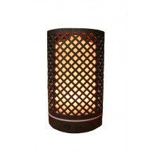 Umidificator aromaterapie EDAR® ultrasunet, cu lumini LED, model romb cu rezervor 200 ml, culoare lemn inchis