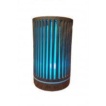 Umidificator aromaterapie EDAR® ultrasunet, cu lumini LED, model linie cu rezervor 200 ml, culoare lemn inchis