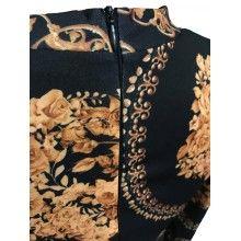 Rochie cloche DUO elastic la maneca si fermoar la spate