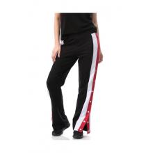 Pantaloni lungi cu dungi laterale si capse