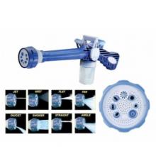 Pistol de apa albastru cu 8 tipuri de jet
