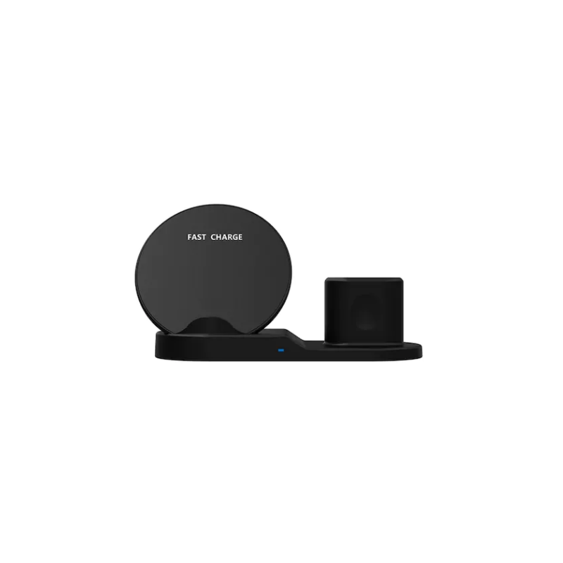 Statie de incarcare SIKS® universala Fast Wireless Charger 3 in 1, incarcare telefon, airpods si smartwatch, negru