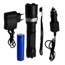 Lanterna de mana SIKS® Swat, lumina led, focalizare, pentru pescuit, camping, plimbari, negru