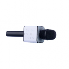 Microfon SIKS® Karaoke Wireless cu Bluetooth si boxa inclusa, autonomie 3-5h, negru