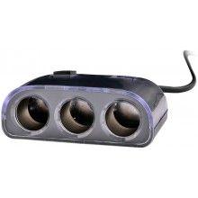 Adaptor auto negru pentru bricheta cu 2 x USB si 3 x intrari bricheta