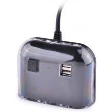 Adaptor auto pentru bricheta cu 2 x USB si 3 x intrari bricheta