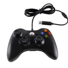 Controler cu fir EDAR® Xbox 360, controler de joc negru