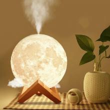 Lampa cu umidificator SIKS® luna, difuzor aromaterapie, 880 ml