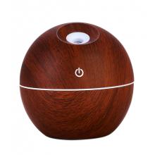 Umidificator aer SIKS® cu aromateraprie, LED multicolor, 130ml, maro