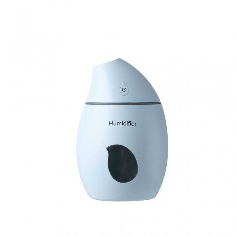Difuzor portabil EDAR® umidificator, forma mango, silentios, cu cablu USB, albastru, 160 ml
