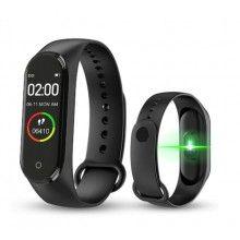 Bratara fitness SIKS® M4, masuratori precise, notificari telefon, negru