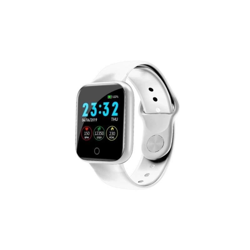 Smartwatch SIKS® rezistent la apa, bluetooth 4.0, monitorizare somn, functie telefon, alb