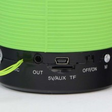 Boxa portabila SIKS® difuzor cu bass cald, port bluetooth, verde