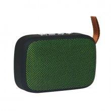 Boxa portabila EDAR® cu baterie reincarcabila, cablu USB, mini difuzor, verde