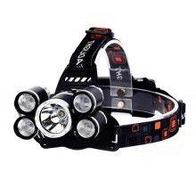 Lanterna de cap cu 5 LED-uri