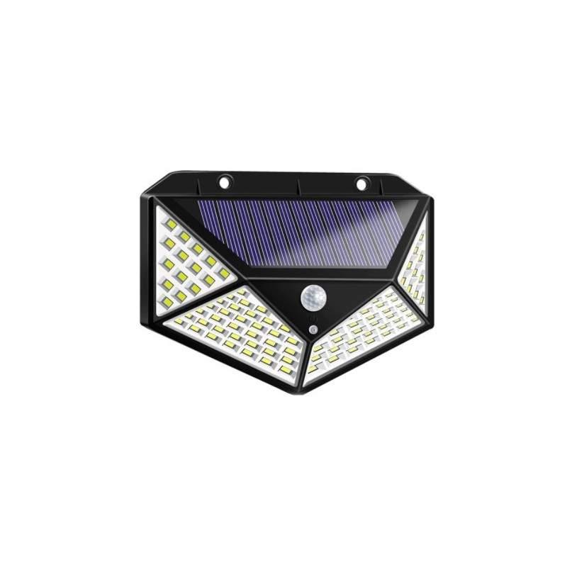 Lampa solara SIKS® cu incarcare solara, 100 leduri, montare pe perete