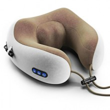 Perna pentru masaj EDAR® electrica, de calatorie, portabila, relaxare, alb/maro