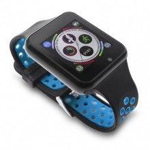 Smartwatch EDAR®, bluetooth, monitorizare somn, curea din silicon, camera, negru/ albastru