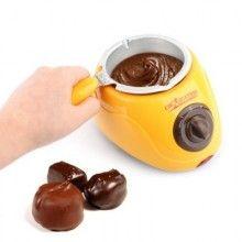 Aparat pentru topit ciocolata EDAR®, 250g, cu 6 tavite forma mica + o forma inima mare