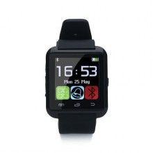 Ceas inteligent EDAR® ceas Bluetooth, ecran LCD, curea silicon, negru