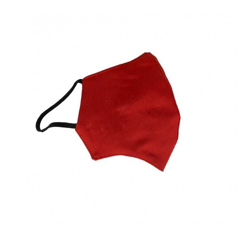 Masca de protectie EDAR® din bumbac, reutilizabila, anatomica, rosie