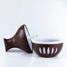 Umidificator camera EDAR® cu ultrasunete si led, aromaterapie, cu USB, lemn inchis
