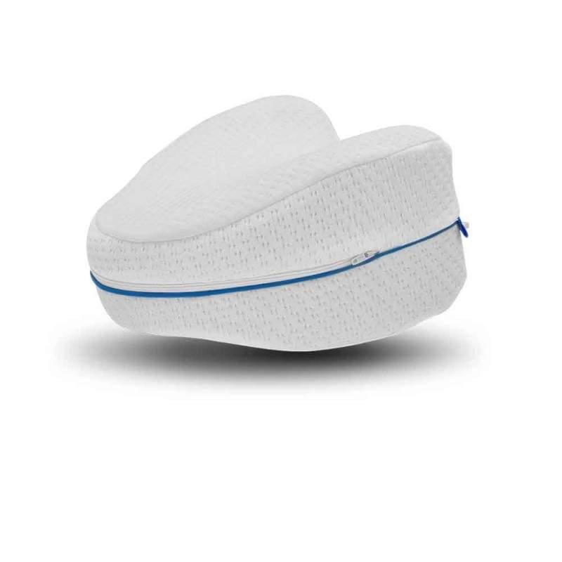 Perna ortopedica SIKS® genunchi/picioare cu spuma de memorie, alb