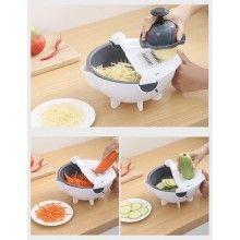 Feliator multifunctional SIKS® cu strecuratoare si decojitor, pentru legume/fructe